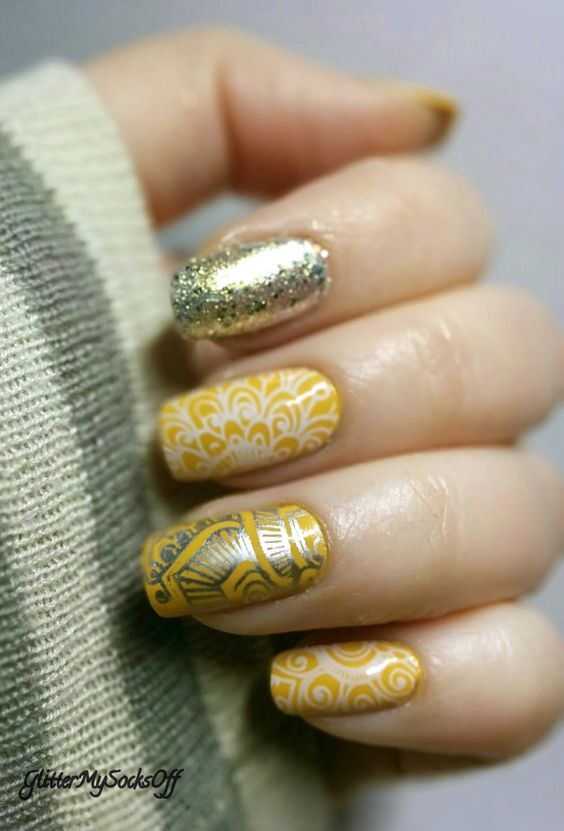 mustard-and-sliver-stamping via
