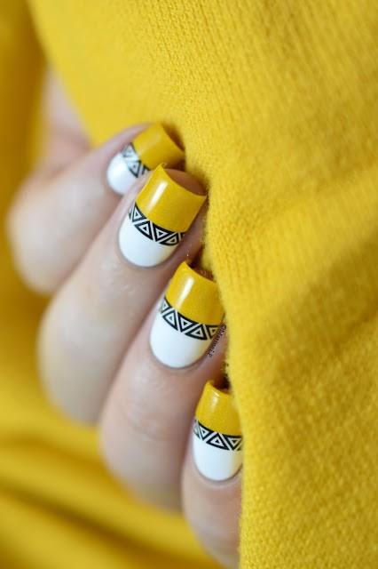 mustard-and-white-nails via
