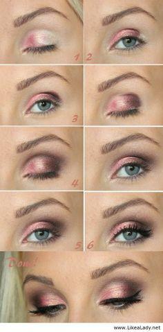 Sparkling Pink Eye Makeup Tutorial