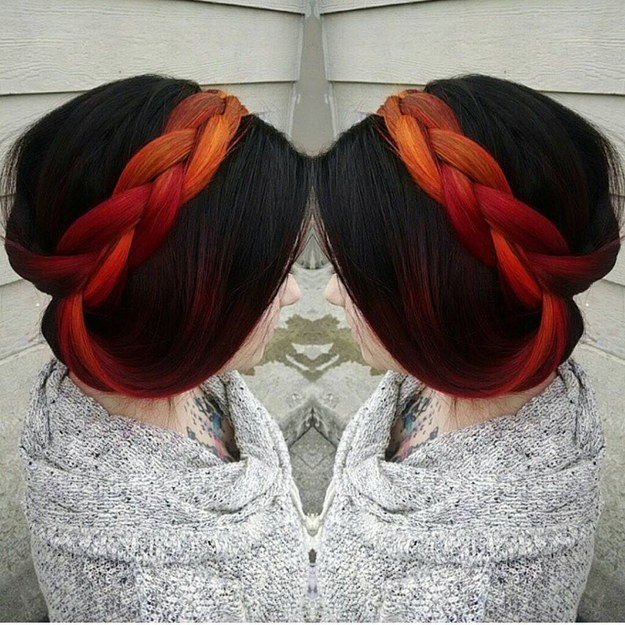Hint of Fiery Red