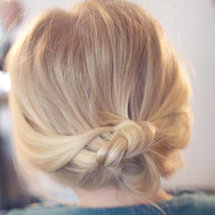 Chignon sur cheveux courts et fins / Bun on short and fine hair: