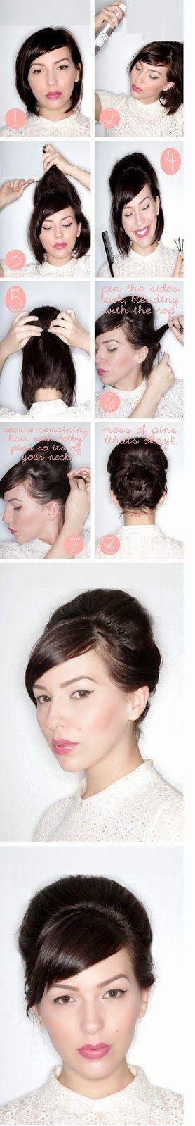 Coiffure simple et rapide cheveux courts: