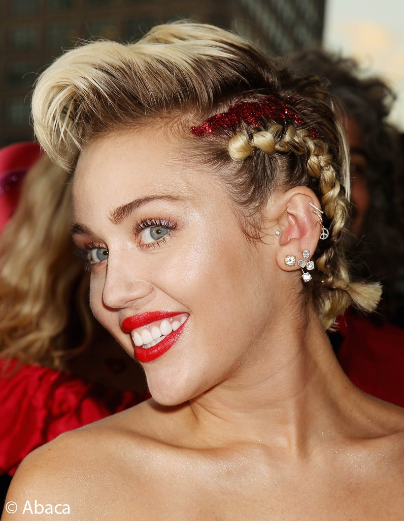 Miley Cyrus at the amfAR Inspiration Gala New York at Spring Studios in New York City, NY, USA, June 16, 2015. Photo by Dave Alloca/Startraks/ABACAPRESS.COM | 505100_011 New York Etats-Unis United States