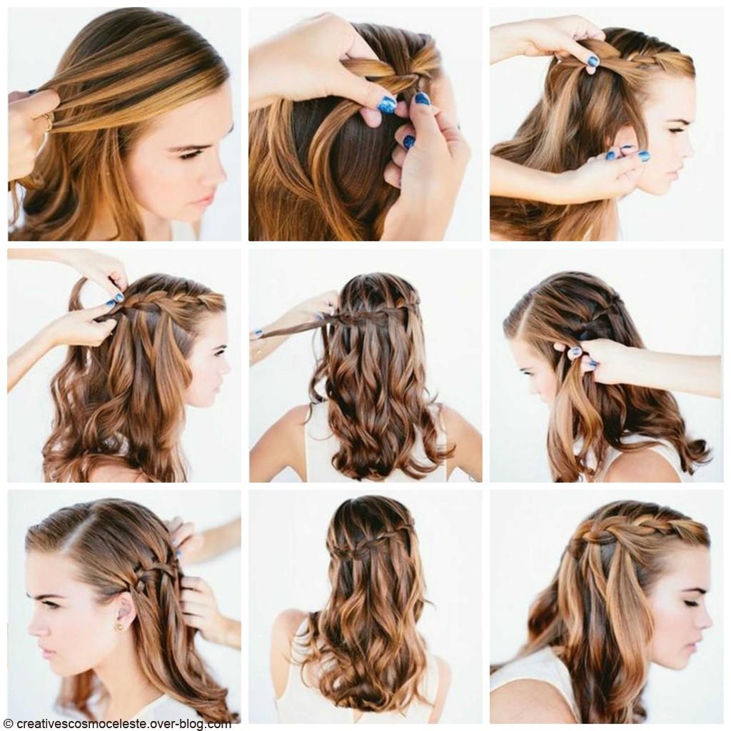 Bien-aimé 16 coiffures belles et faciles pour les cheveux courts | Astuces  DB37