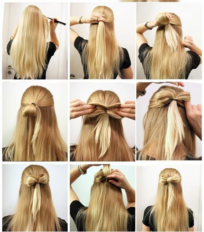 Coiffure rapide pour cheveux tres longs