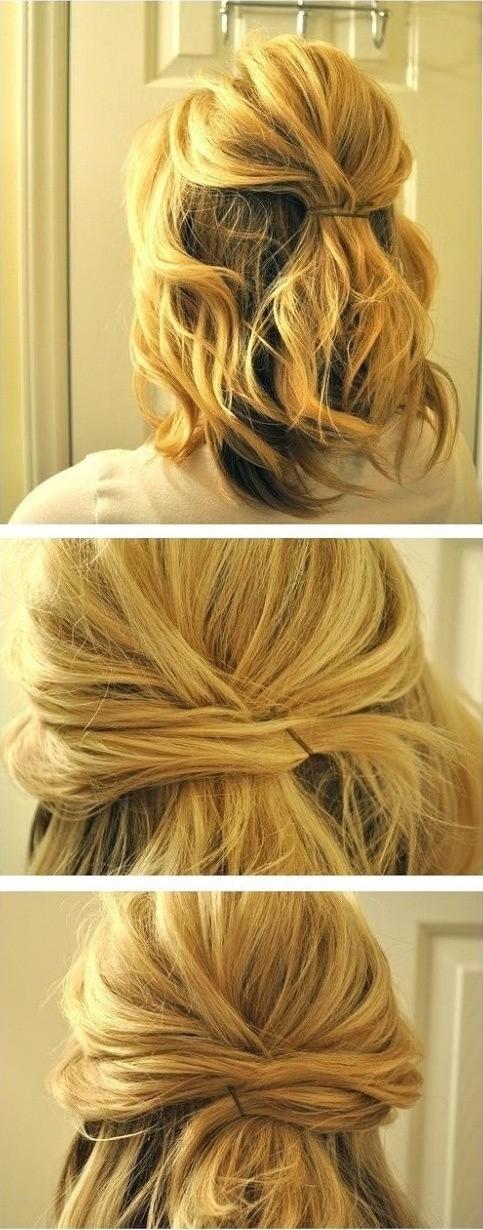 14 coiffures en demi-queue faciles et jolies - Astuces de filles