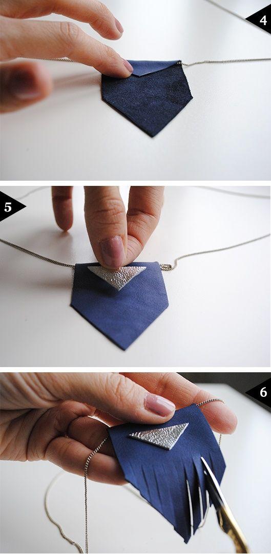 pendentif cuir: