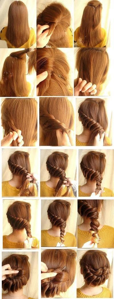Cute hairstyle, it would take some time but would be nice during the summer - especially during an internship: